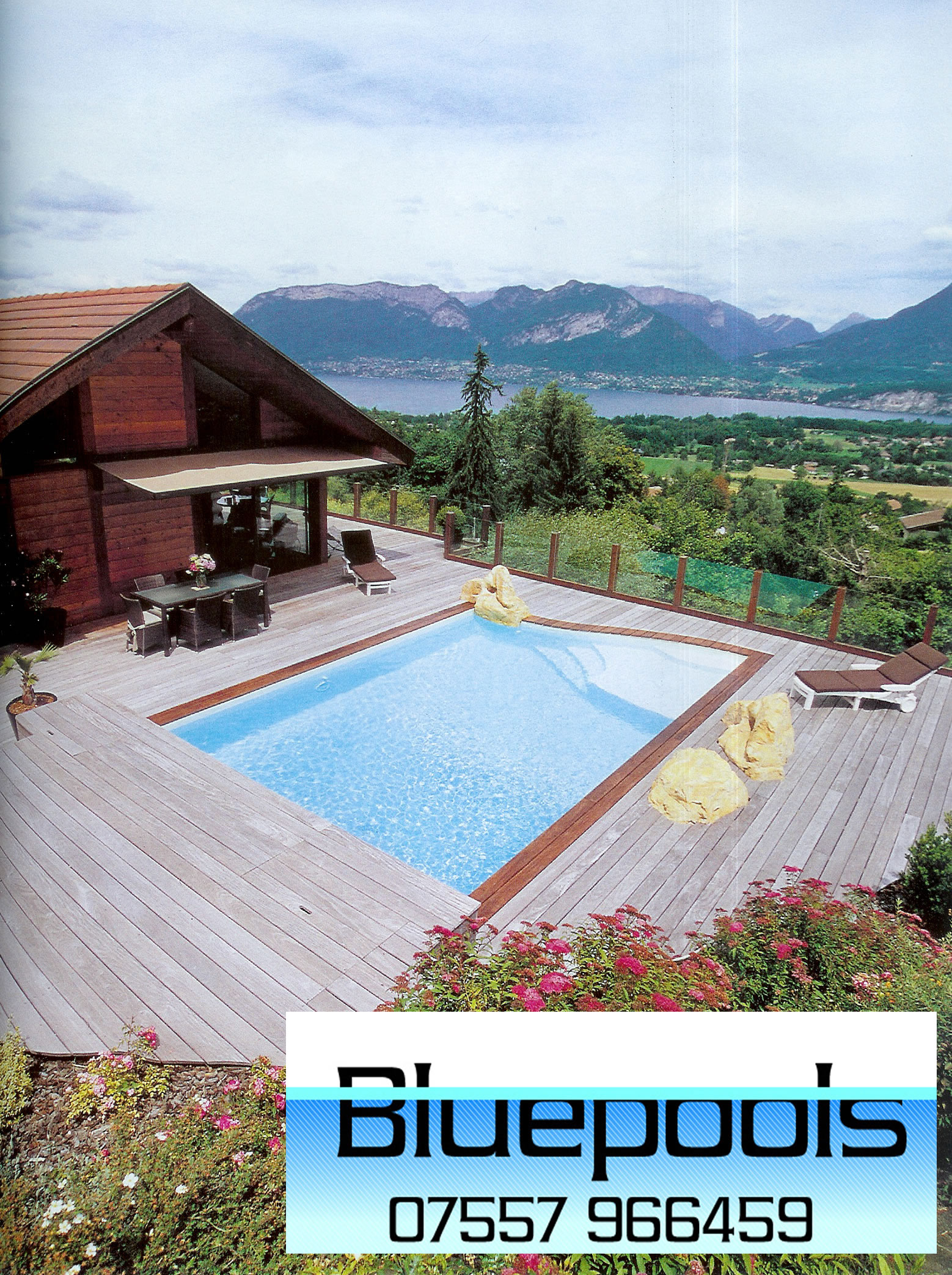 Outdoor pool design for Garden pool liners