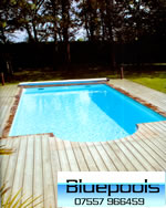 8 x 4 concrete wall pool with decking