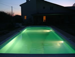 9 x 5 garden pool with lights