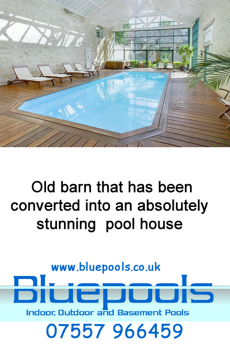 pool in a renovated barn